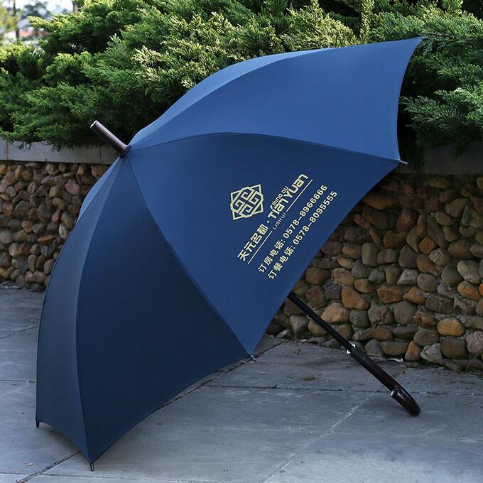 长杆伞作为企业的礼品赠送,广告效果强、影响力强